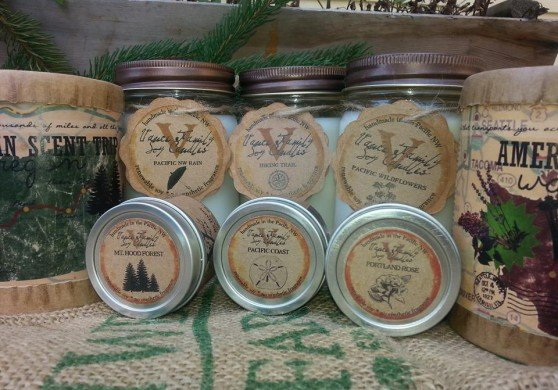 American Made Soy Candles from Vance Candles via USALoveList.com