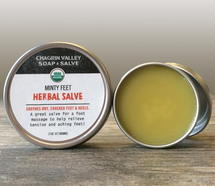 Organic Pedicure Products | Minty Feet Balm by Chargin Valley Soap & Salve