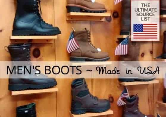 Men's Boots Ultimate Source List:  Made in USA Work Boots, Hiking Boots & More