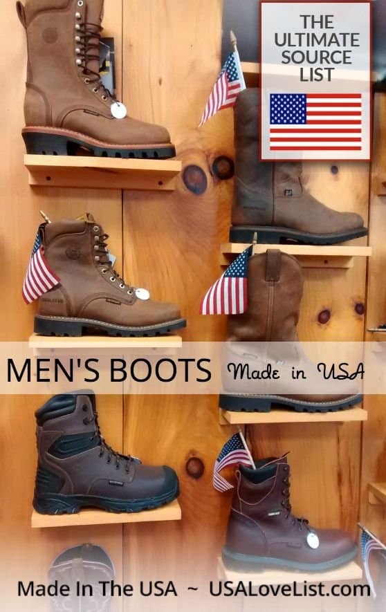 Men's Boots Work boots, hiking boots, fashion boots for men Made in USA #usalovelisted