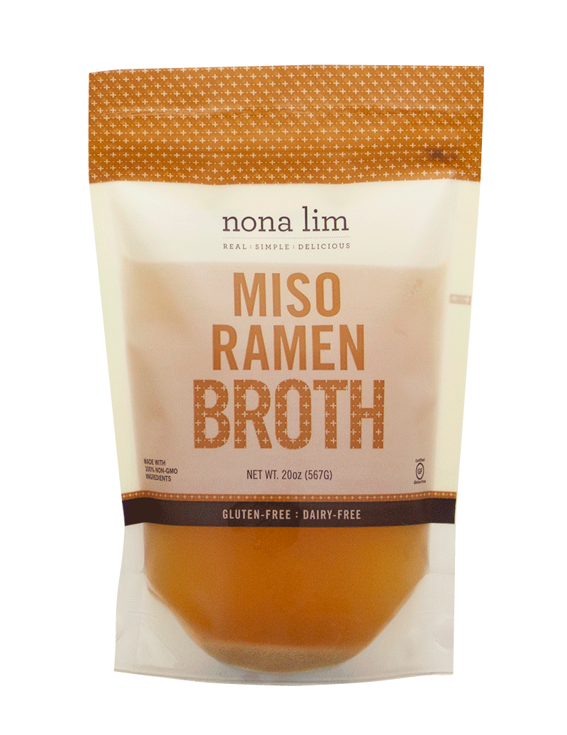 Organic Miso Ramen Premade Gluten Free Broth from Nona Lim