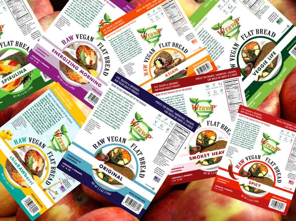Raw, Gluten Free Wraps from WrawP, made in California, via USALoveList.com