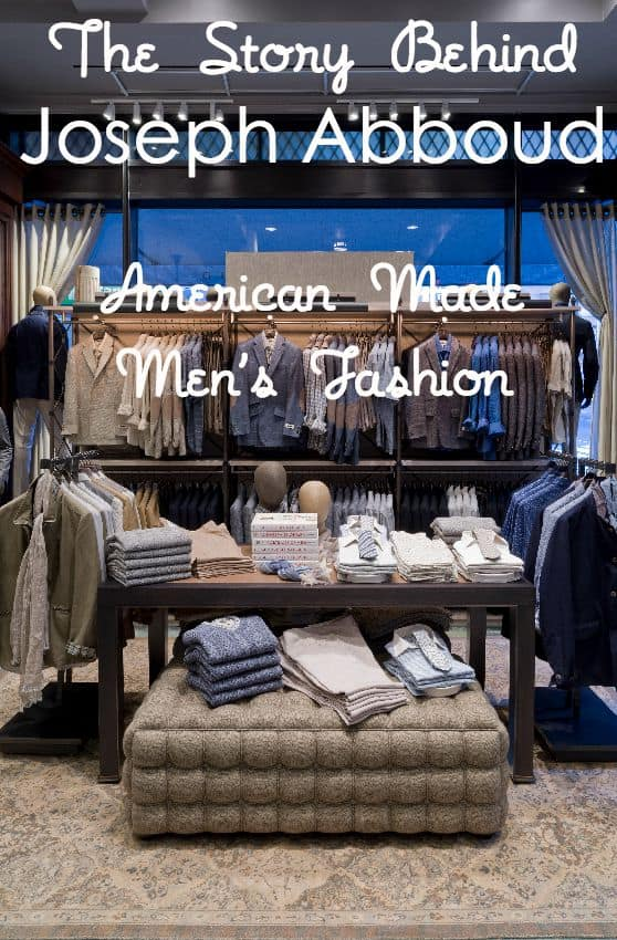 American Made Men's Fashion From Joseph Abboud via USALoveList.com