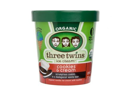 Ice Cream We Love, By Region, Including Three Twins Cookies and Cream via USALoveList.com