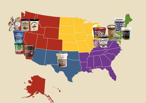 American Made Ice Cream We Love, By Region