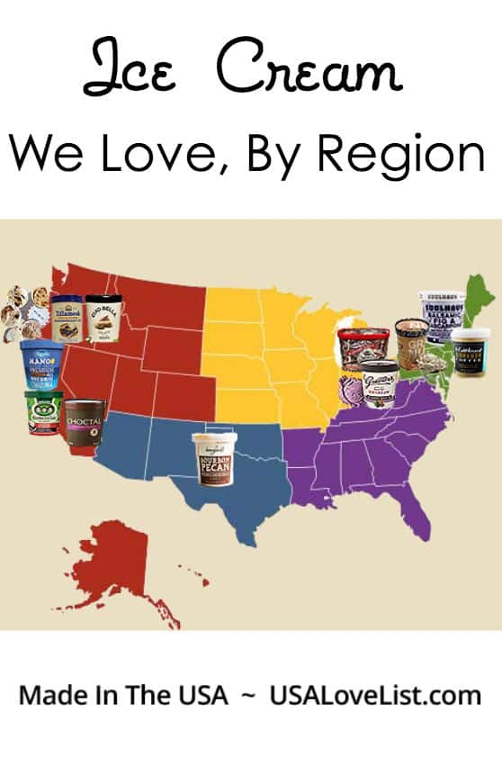 The Best Ice Cream By Region via USALoveList.com