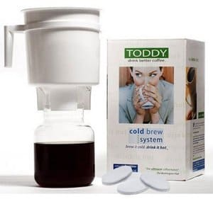 If you are hooked on cold brewed coffee concentrate, invest in this brewing system to make your own. They are made in the USA too by Toddy. Click for a cold brew coffee recipe.