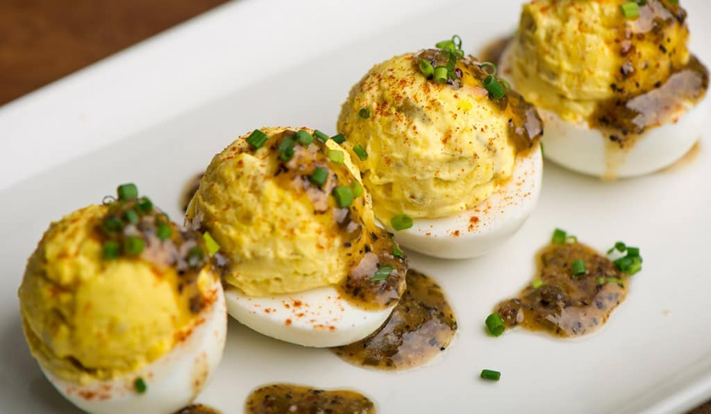A Twist on A Classic - Truffle Deviled Eggs from Del Friscos Grille Reviewed on USALoveList.com