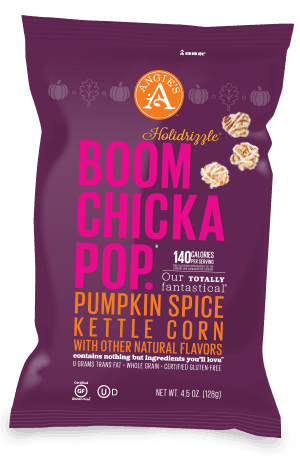 Angies Boomchickapop Pumpkin Spice Kettle Corn - Reviewed on USALoveList.com #usalovelisted #snacktime #popcorn