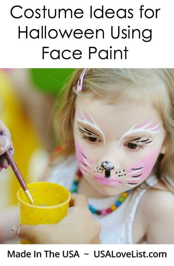 Face paint Halloween costume ideas | Last minute costume ideas | Made in USA Face Paint