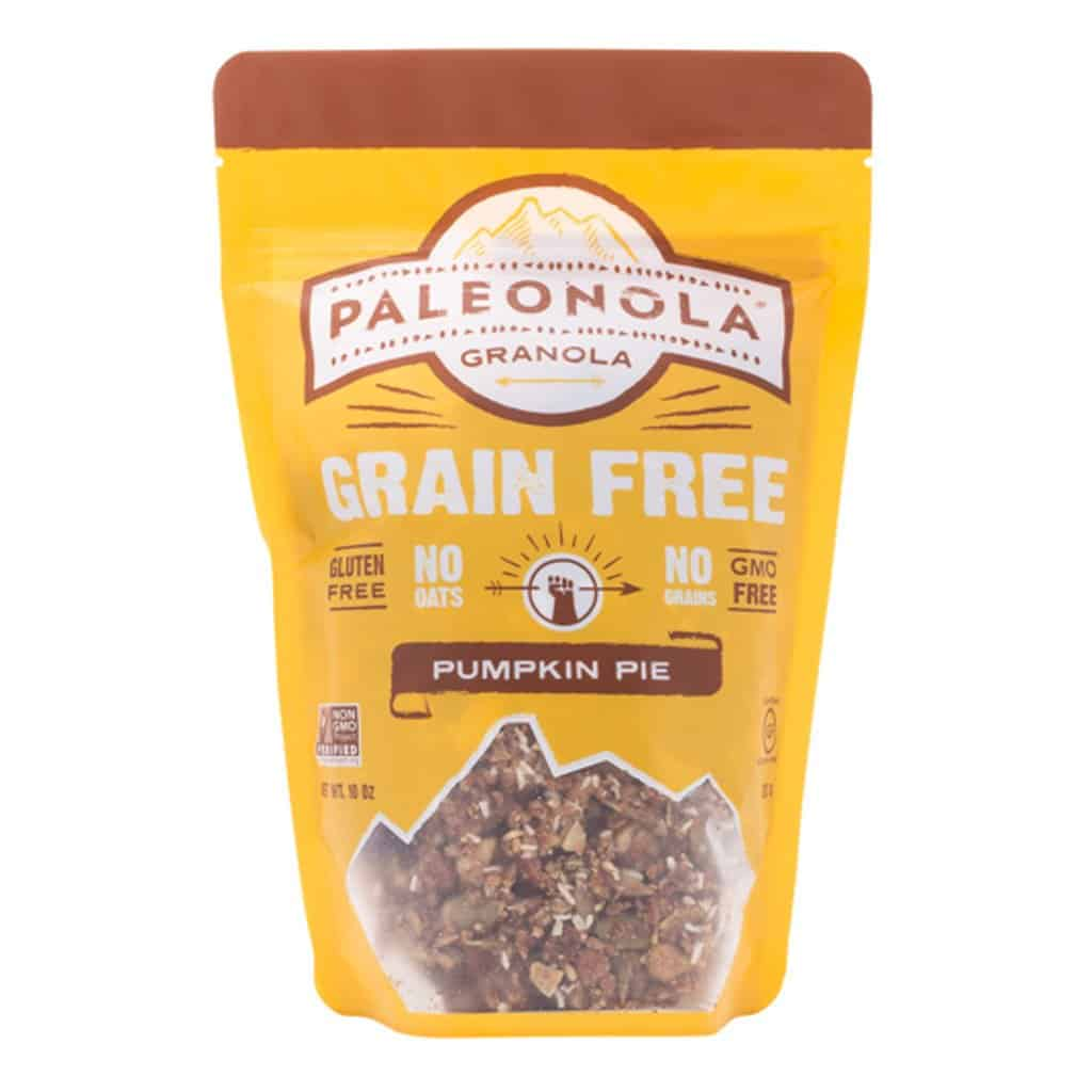 Pumpkin Spice products made in USA: Gluten Free, Grain Free, Soy Free, Dairy Free Granola from Paleonola #usalovelisted #pumpkinspice