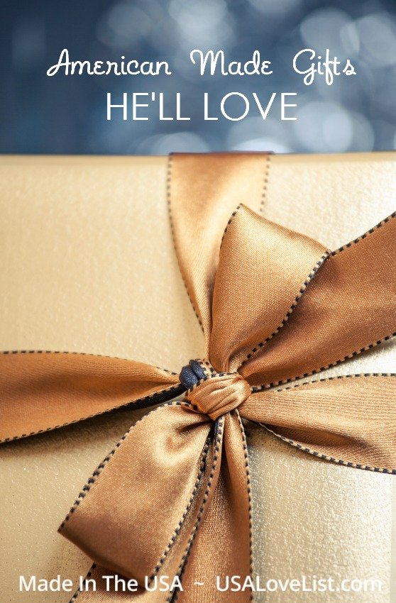 Gift ideas for men | American made gifts he'll love.