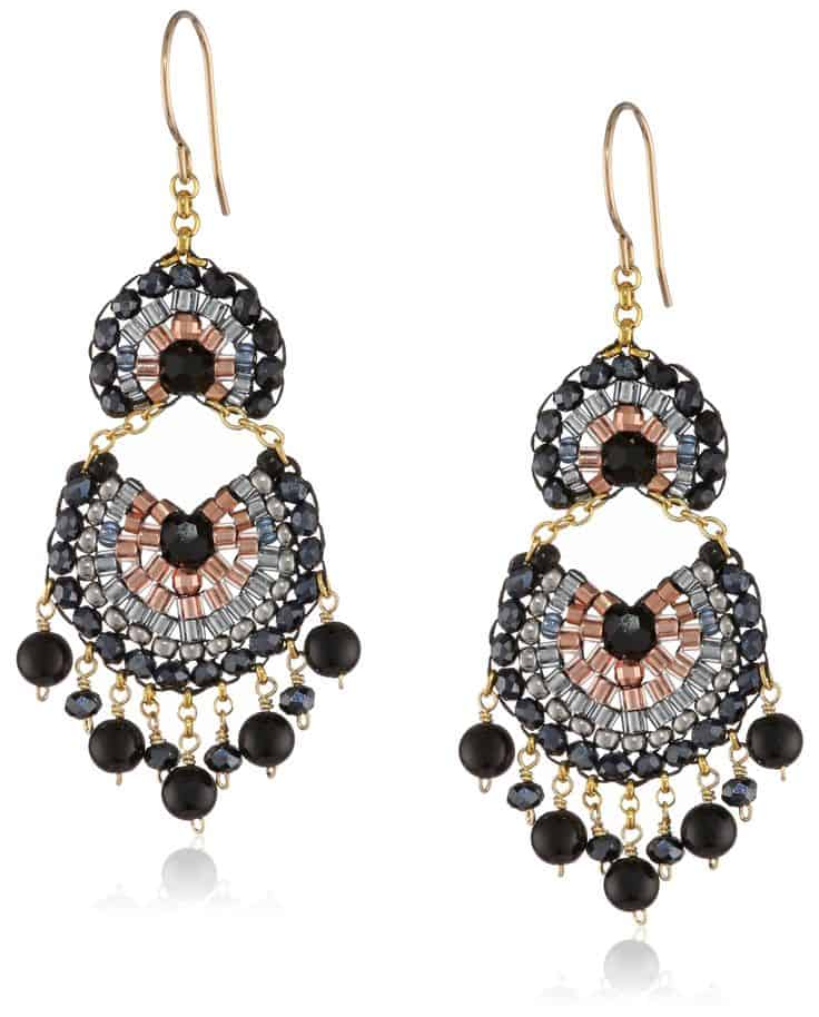 Womens Luxury Gifts Made in USA - Miguel Ases Drop Earrings via USALoveList.com