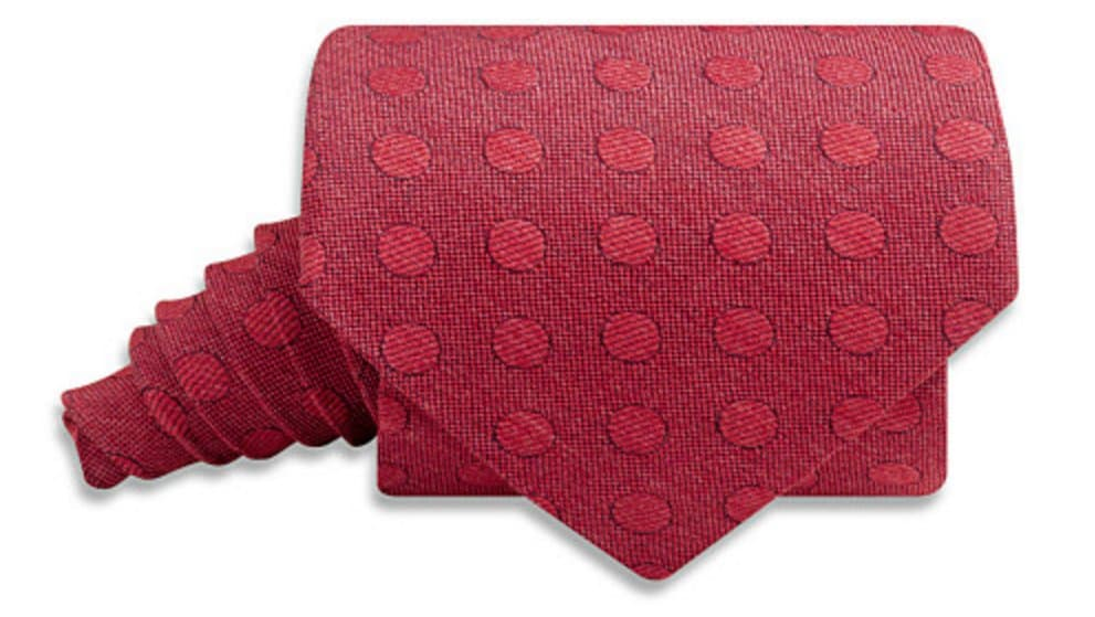 Easy Gift: a new, American made necktie. We love this handsome red-on-red from Beau Ties Ltd., hand made in Vermont.