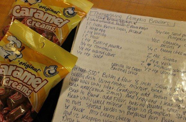Pumpkin Brownies Recipe | With Pecans and Caramel Creams caramel sauce | Thanksgiving dessert recipe