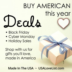 Shop with us for deals and sales on the very best of American Made.