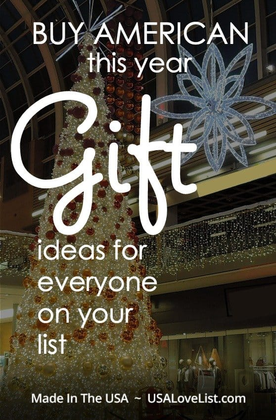 American made gift ideas for everyone on your list.