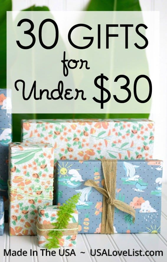30 American Made Gifts for Under $30: Tracey's Picks