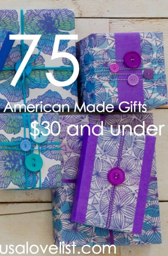 75 Affordable American Made Gifts For All Year Long via USALoveList.com