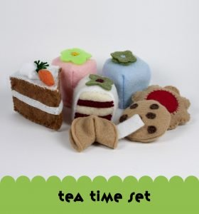Noshkins felt play food | Made in USA Tea Time Set