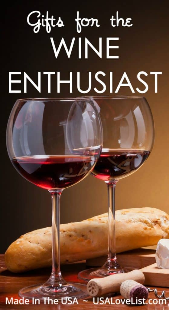 Gifts for Wine Enthusiasts, all made in the USA via USAlovelist.com #usalovelisted