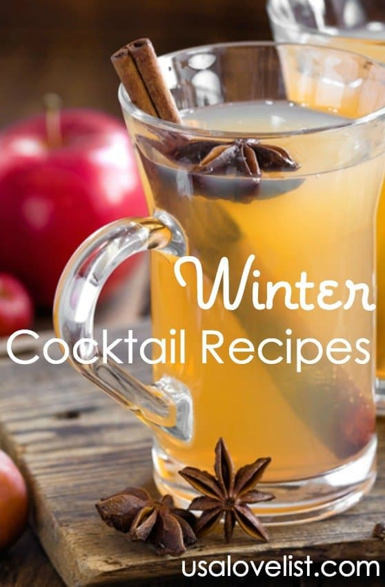 Winter Cocktail Recipes via USALoveList.com #usalovelisted  #cocktails #happyhour #booze