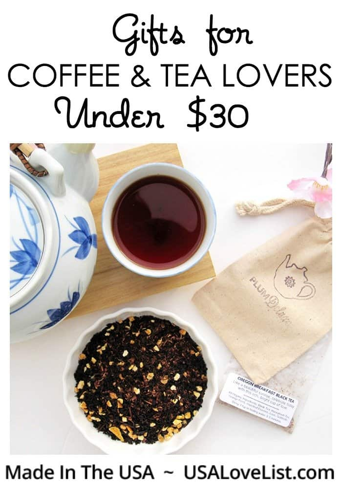 Gifts for coffee and tea lovers: all under $30 and made in the USA