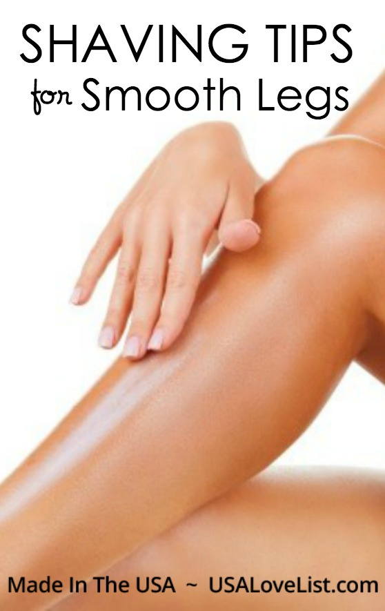 Shaving for smooth legs featuring our favorite American made shaving products
