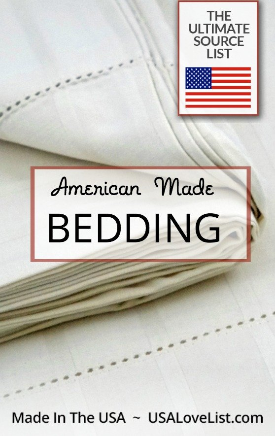 Buy bedding made in USA | Ultimate source list of pillows, blankets, sheets, comforter, duvets, and more, all made in USA