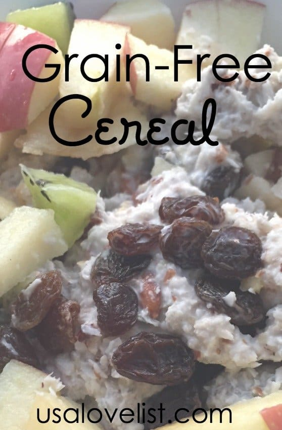 Grain-, Gluten-, Dairy-, Sugar-Free, Whole30, Vegan, and Paleo Cereal - Made Inexpensively and Quick
