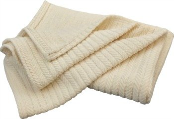 NoFeathersPlease made in USA chenille natural blanket