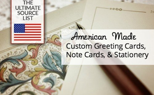American made custom greeting cards, note cards, stationery