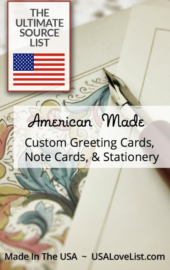Custom greeting cards note cards & stationery Made in USA