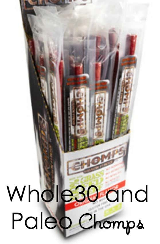 Whole30 Paleo Crossfit Snacks from Chomps