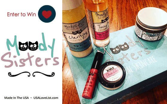 Moody Sisters Natural Skincare Made in the USA. Giveaway ends 3/24/16.