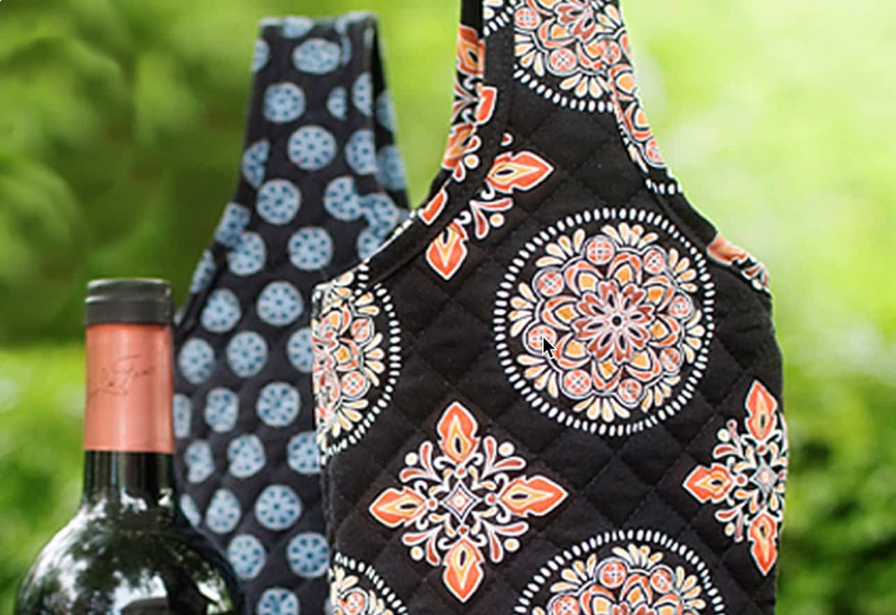 Giveaway: New Quilted Wine Totes from Stephanie Dawn