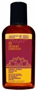 Brighten Dull Skin with Desert Essence Moringa, Jojoba and Rose Hip Oil - Reviewed on USA Love List