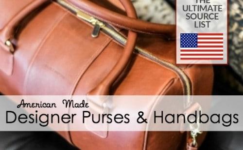 Designer purses and handbags made in USA