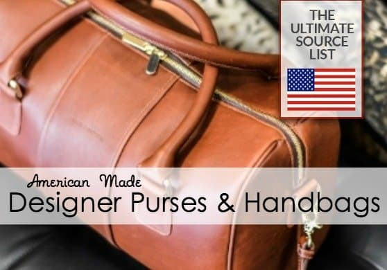 Designer purses and handbags made in USA