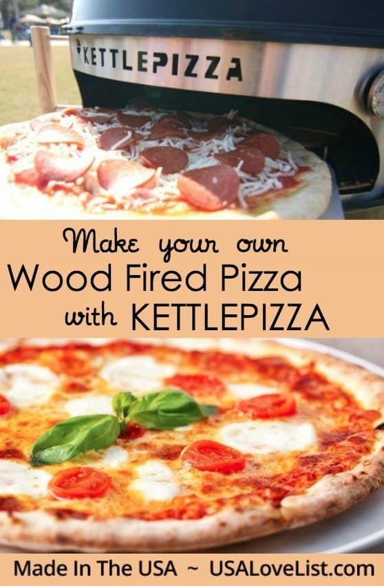 KettlePizza American made wood fried pizza oven kit cook wood oven pizza in a flash in your own back yard Made in USA