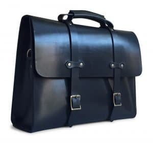 American Made Black Leather Briefcase from Jackson Wayne | Luxury Gifts For Him