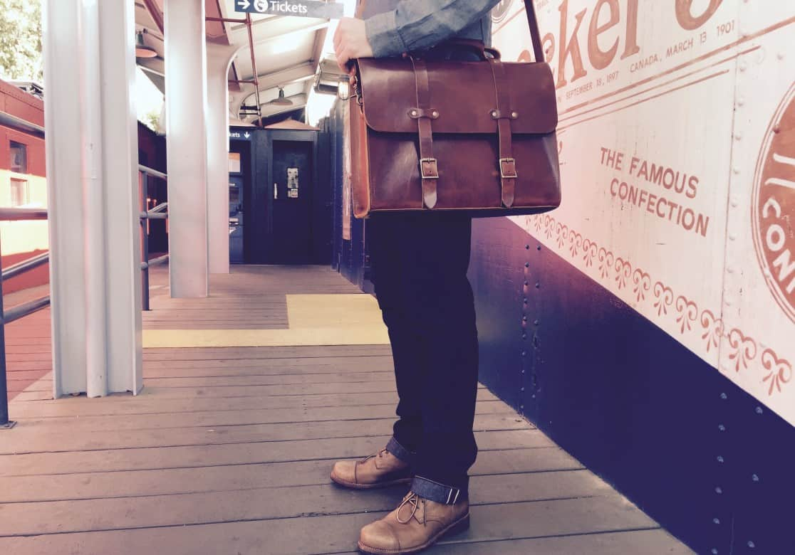 American Made Leather Briefcase from Jackson Wayne | Luxury Gifts For Him Made in USA