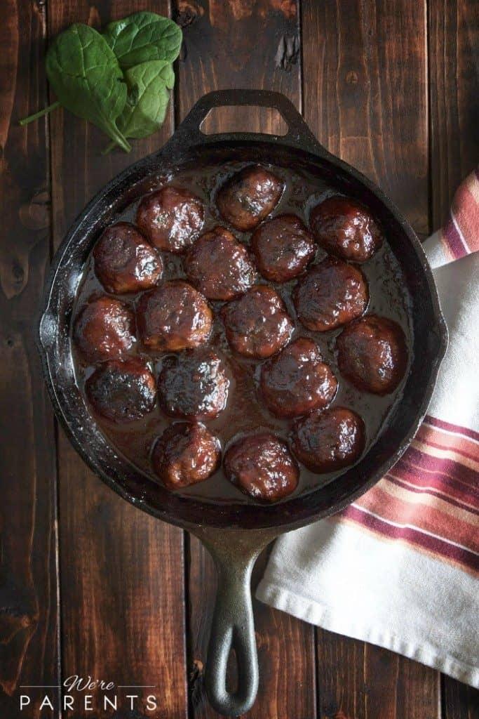 Cast Iron Recipes | Homemade Chicken Meatballs