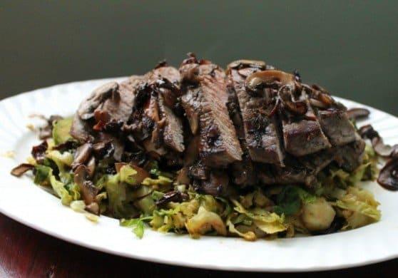 Cast Iron Recipes | Mushroom Stuffed London Broil