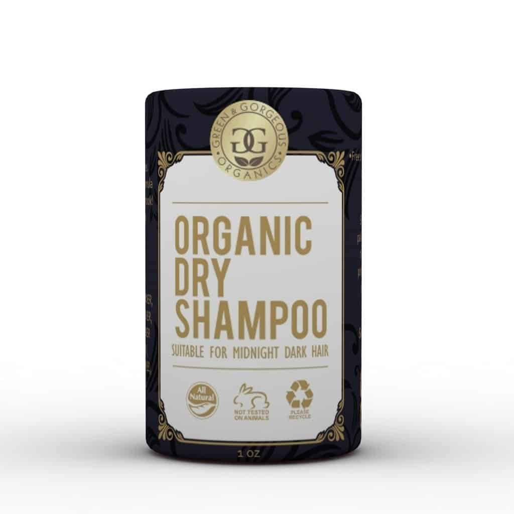 Green & Gorgeous Organics Organic Dry Shampoo | Safe Cosmetics Made in USA | Talc-Free Dry Shampoo For Midnight Dark and Oily Hair