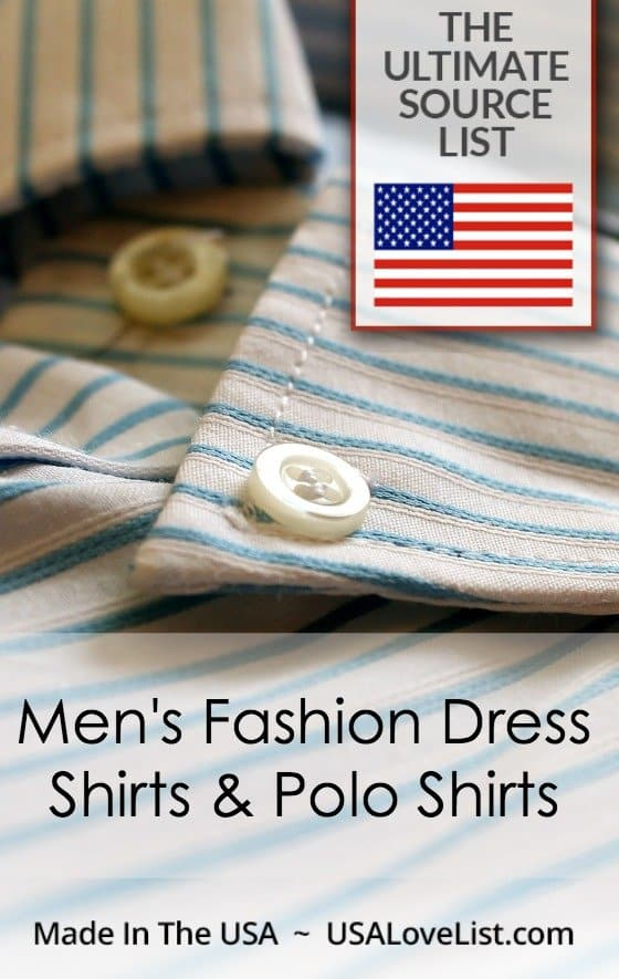 Men's Fashion Dress Shirts & Polo Shirts American made