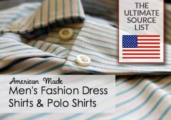 Men's Fashion Dress Shirts & Polo Shirts  Made in USA Source List