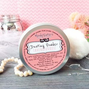 Moody Sisters Lavender and Rose Body Dusting Vegan, Cruelty-, and Talc-Free Powder | Made in USA