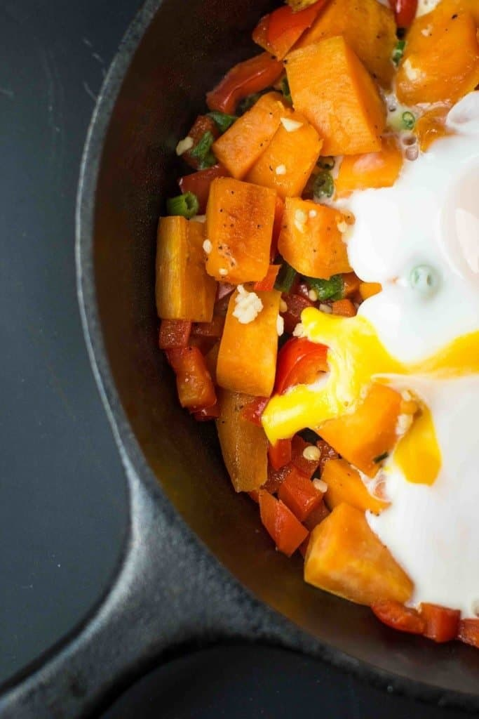 Paleo, Gluten-Free, Whole30 Sweet Potato Breakfast | Cast Iron Recipe Roundup