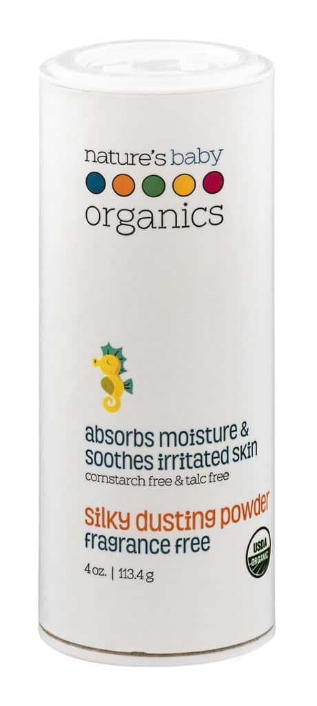 Talc Free, Fragrance-Free Organic Baby Powder from Nature's Baby Organics | Made in USA #usalovelisted